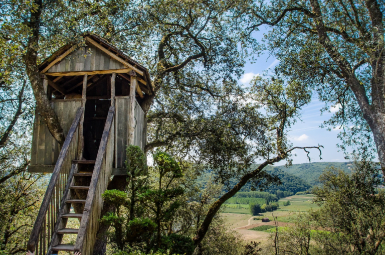 Treehouse with magnificent landscape view