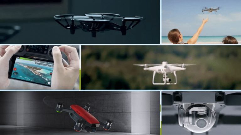 a collage showing different types of educational drones