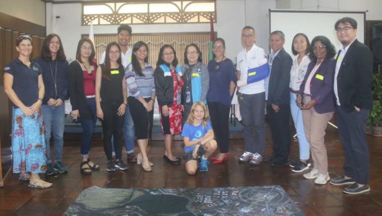 She Maps STEM Professional Development team with youth development coordinators from Philippines