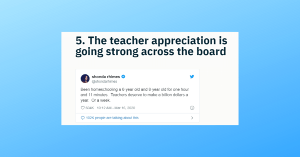 Shonda Rhimes gives a shout out to teachers for their hard work