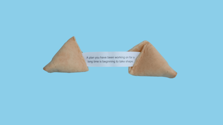 a cookie cracked open to tell your fortune
