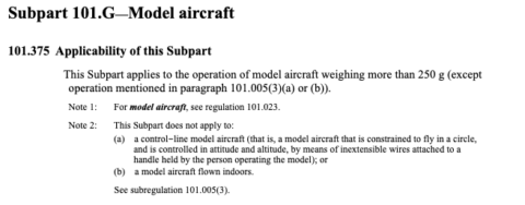 model aircraft definition by CASA