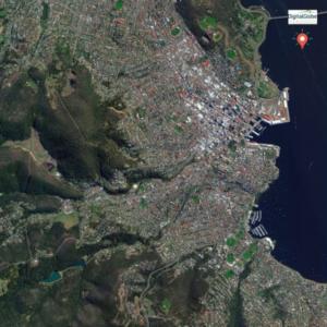 Hobart satellite image