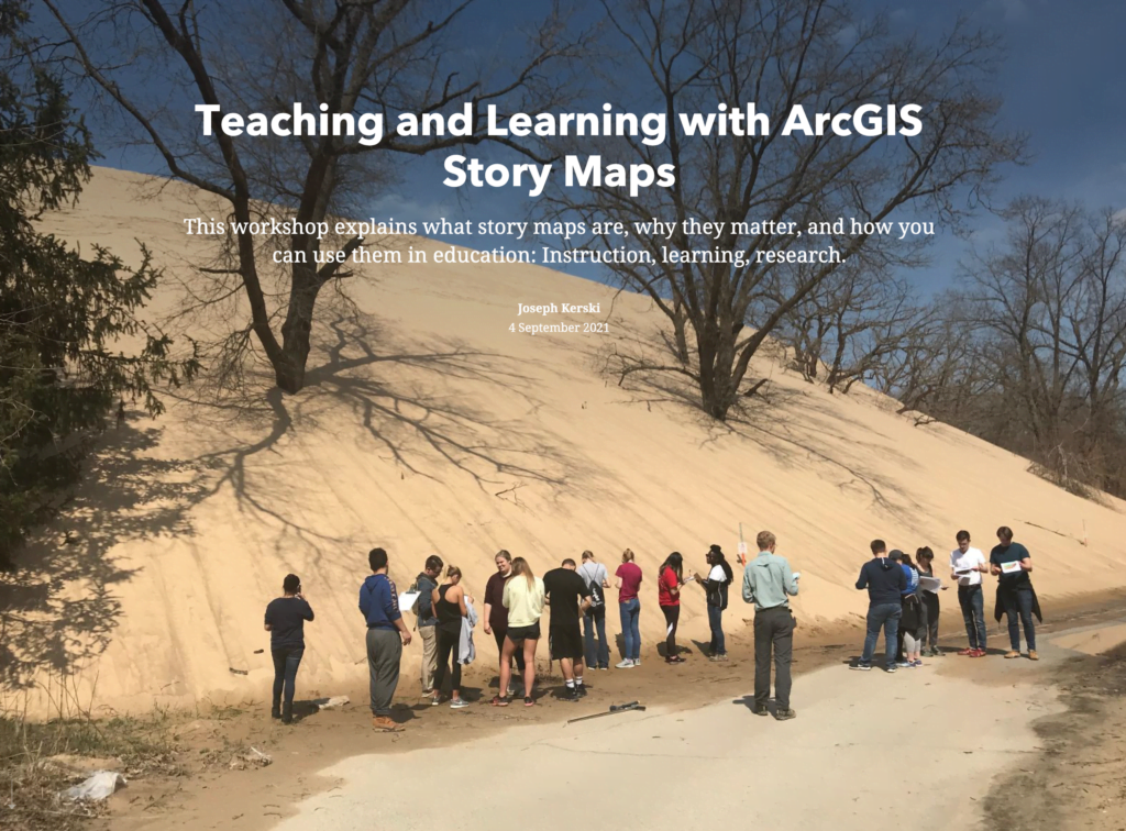 teaching and learning with arcgis story maps