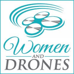 graphic logo of Women and Drones